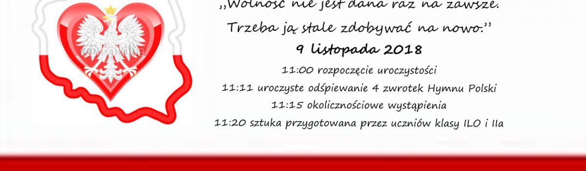 Spektakl z okazji Dnia Niepodległości – zaproszenie